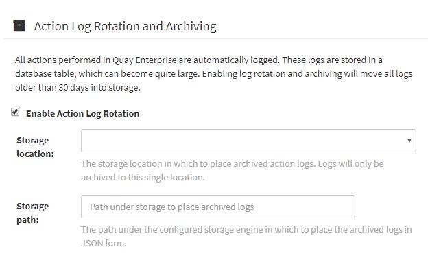 Action Log Rotation
