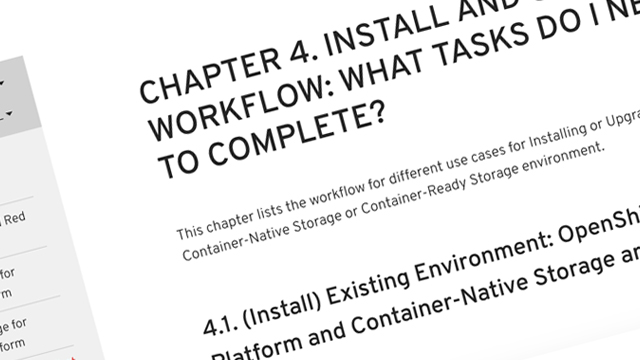 New installation/upgrade workflow matrix in Container-Native Storage 3.6 Deployment Guide