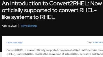 Convert2RHEL is now fully supported