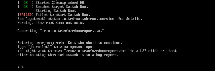 Custom RHEL 7 Installation ISO/DVD fails with