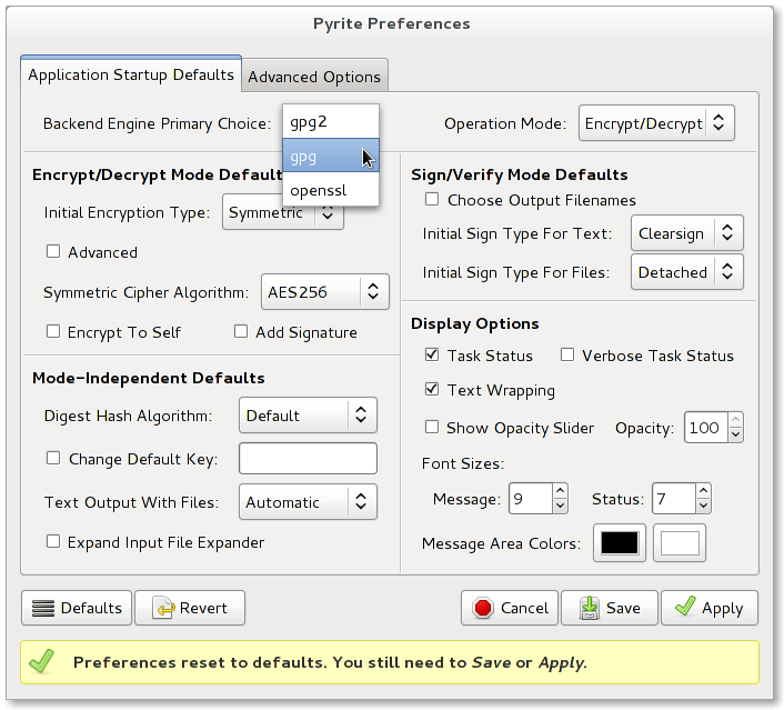 Any interest in a gpg/openssl encryption and signing gui