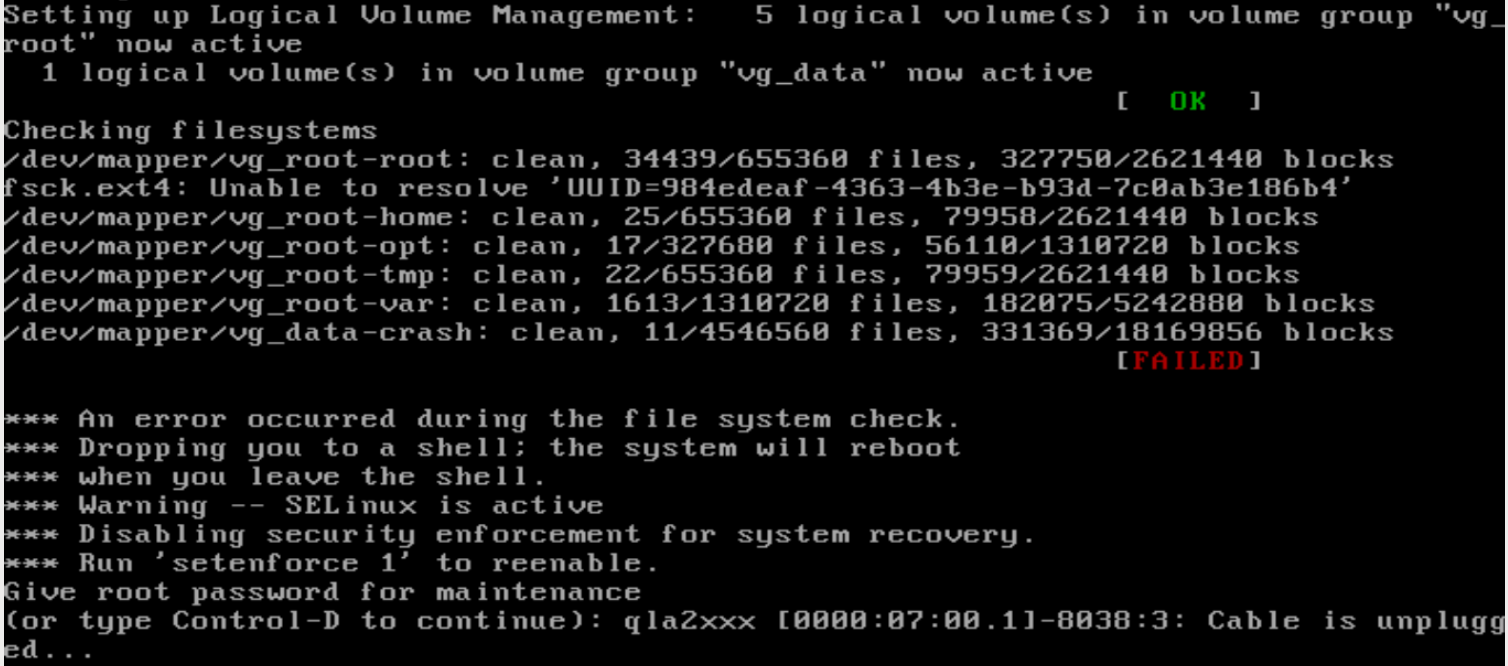 System halts during boot with