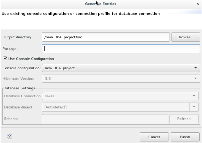 Develop applications using the hibernate tools generate ddl and entities ccuart Image collections
