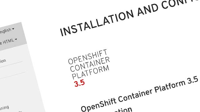 Improved OpenShift documentation