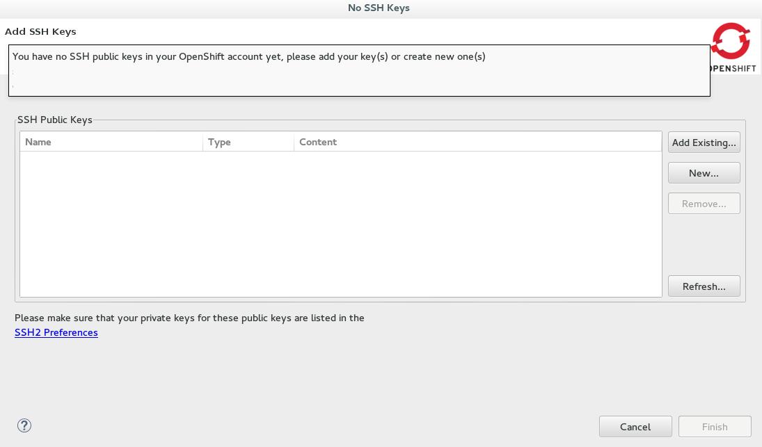 Configure SSH Keys for OpenShift with JBoss Developer Studio - Red