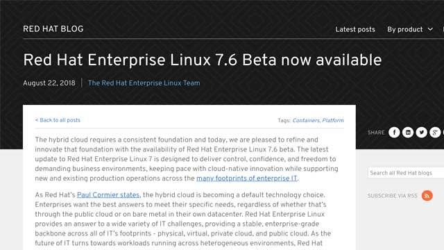 RHEL 7.6 beta