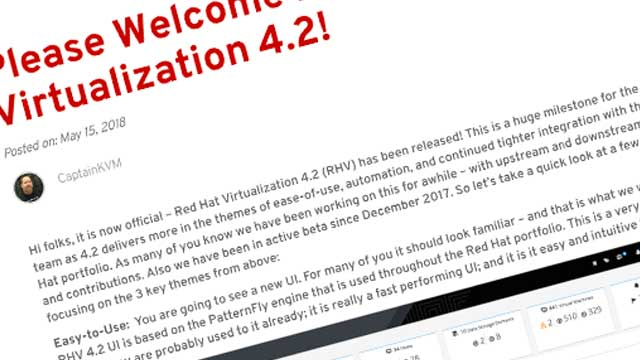 updates to Red Hat Virtualization
