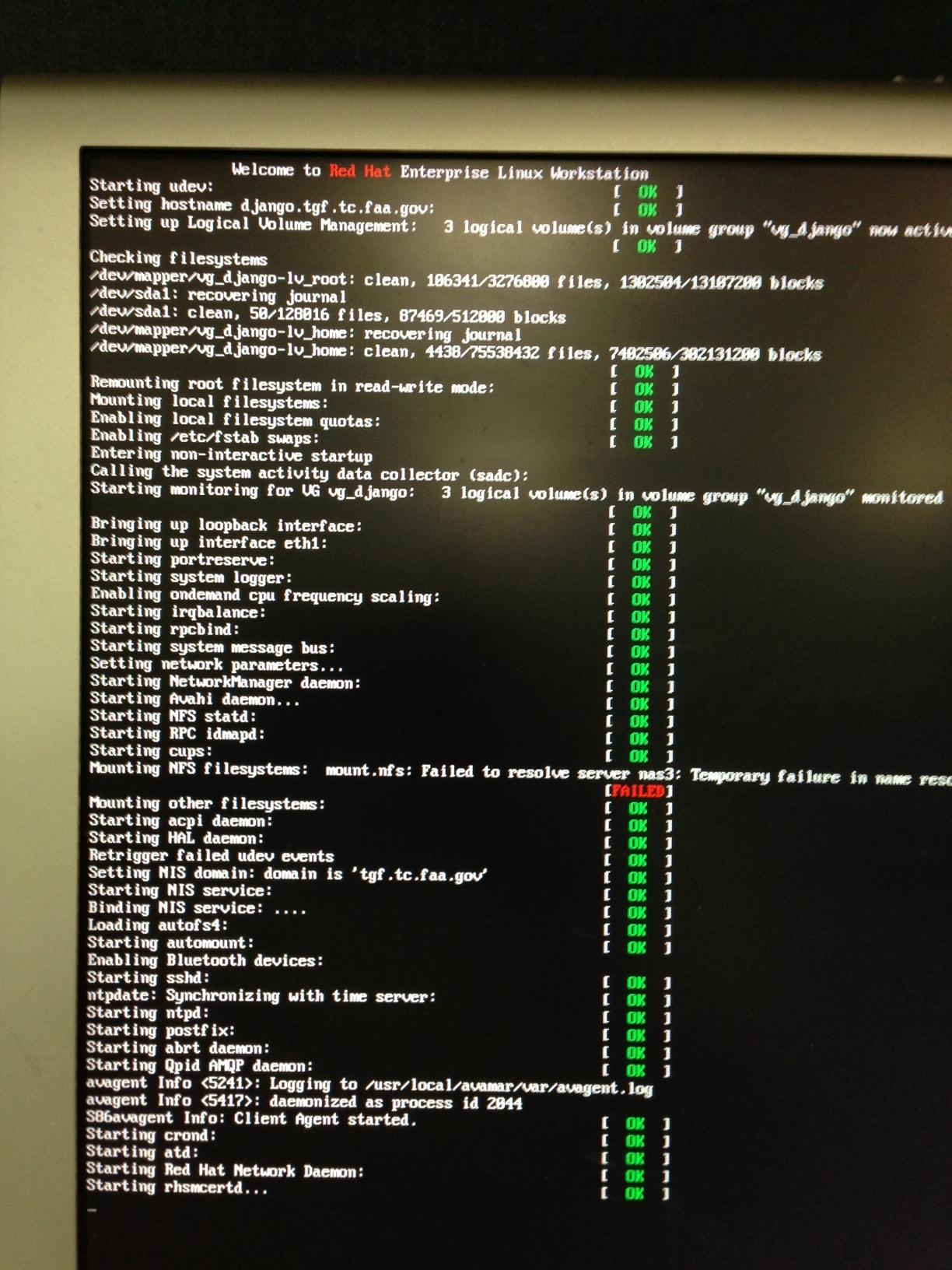 Boot hangs after starting 'rhsmcertd' service - Red Hat Customer Portal
