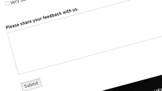 Improved survey process!