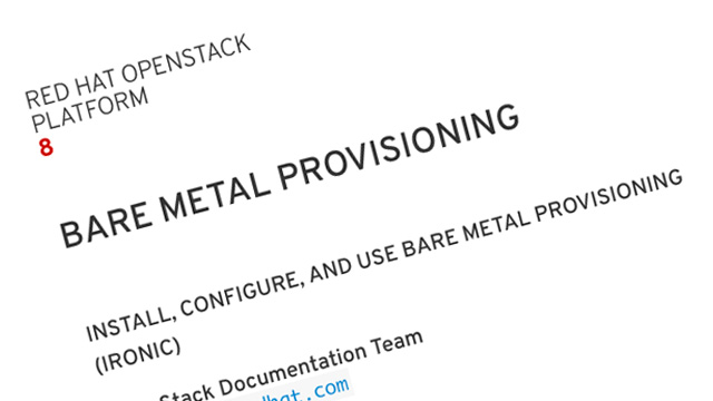 Bare Metal Provisioning documentation screenshot