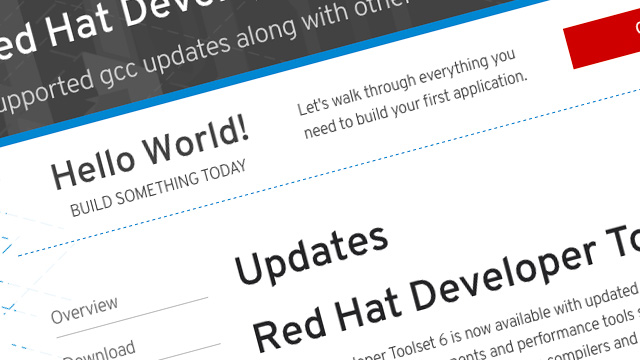 Red Hat Developers toolset screenshot
