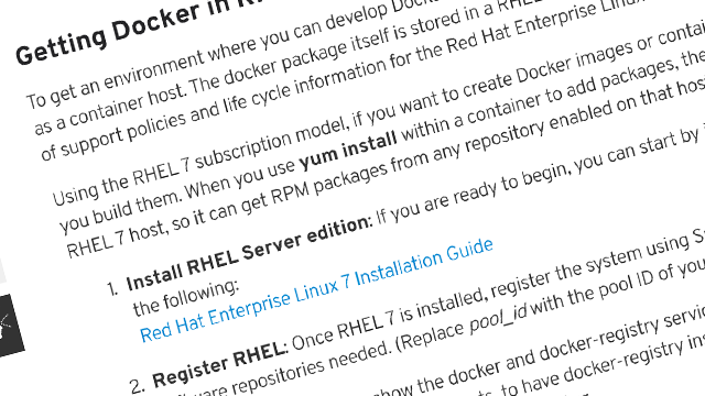 Get Started with Docker Formatted Containers article screenshot