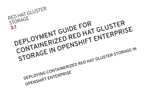 Red Hat Gluster deployment guide screenshot