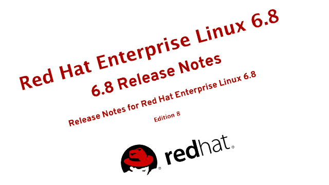 RHEL 6.8 Improvements screenshot