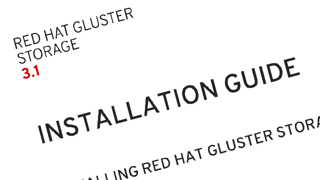 Red Hat Gluster Storage Documentation screenshot