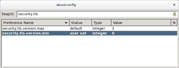 Thunderbird TLS settings
