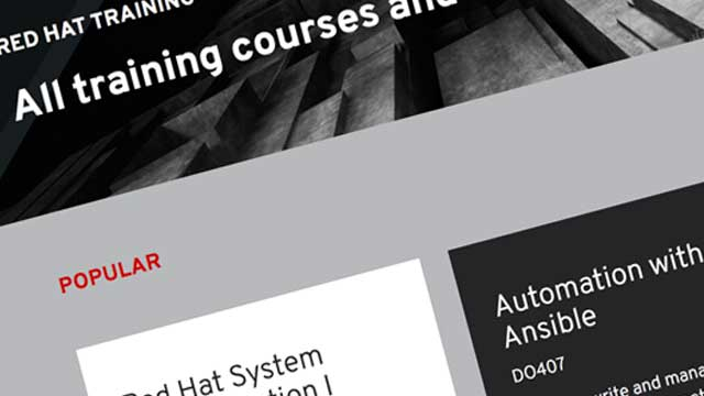 Red Hat Training and Certification Improvements