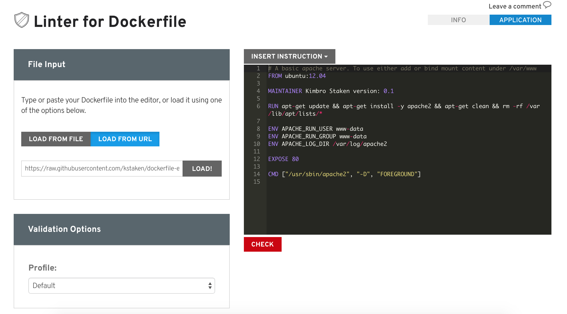 Linter for Dockerfile - Red Hat Customer Portal