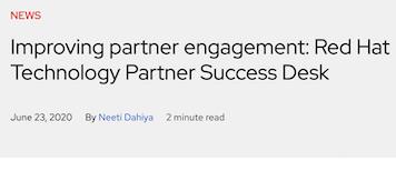 Improving partner engagement: Red Hat Technology Partner Success Desk