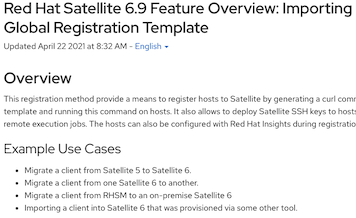 Enhanced self-support resources for Red Hat Satellite registration