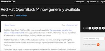 Red Hat OpenStack Platform 14
