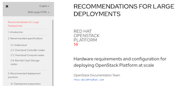 Deploying Red Hat OpenStack Platform at scale