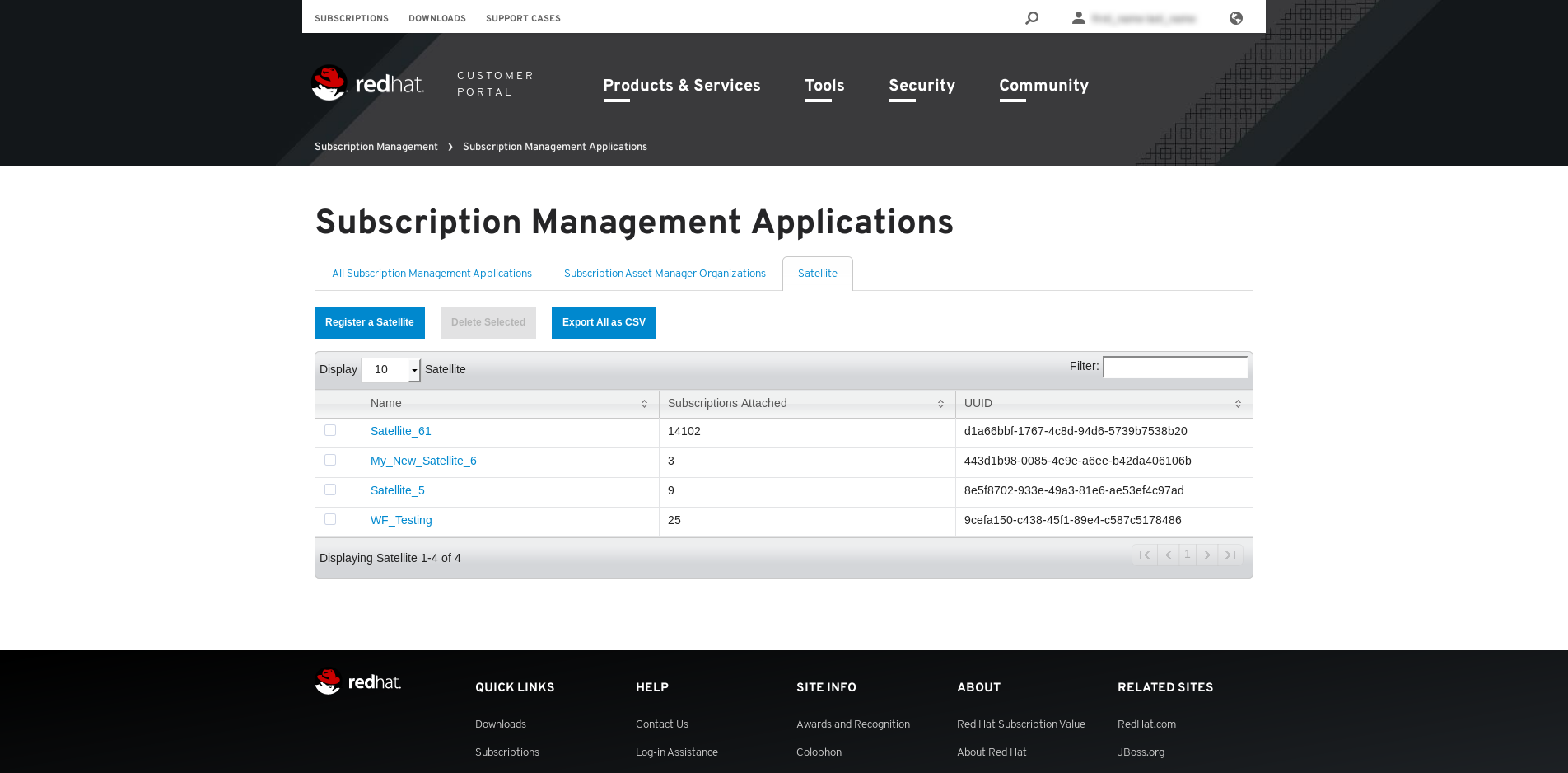 Subscription Management Applications