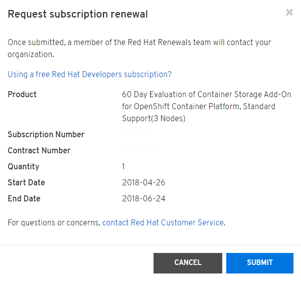 RHSM 15.16.0 adds the ability to request a subscription renewal from RHSM web.