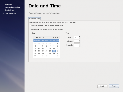 The Date and Time Screen