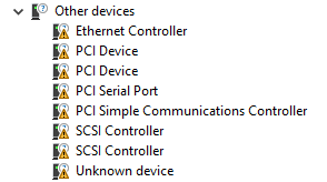 Viewing available devices in the Computer Management window
