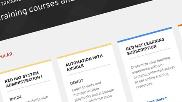 Improved usability and findability of Red Hat training courses
