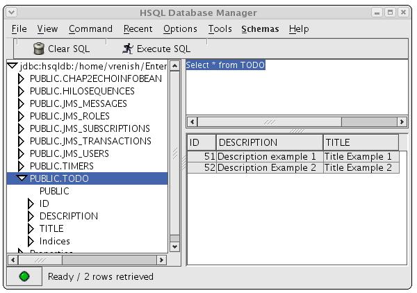 The HSQL Database Manger