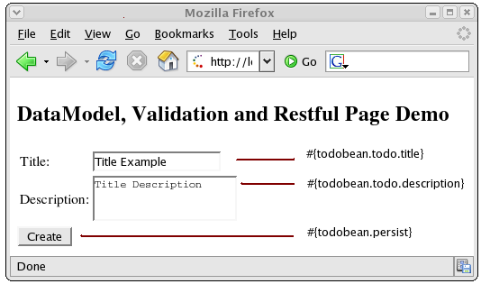"The ""Create Todo"" web page"
