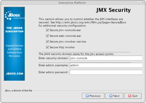 Configure JMX Security
