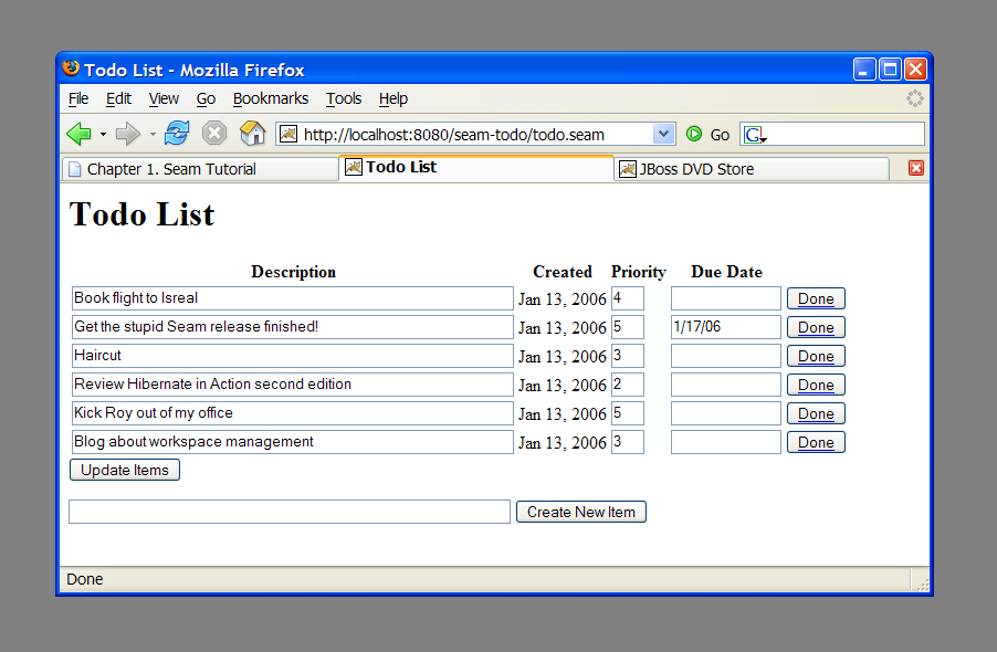 1 4 seam and jbpm the todo list example red hat customer portal