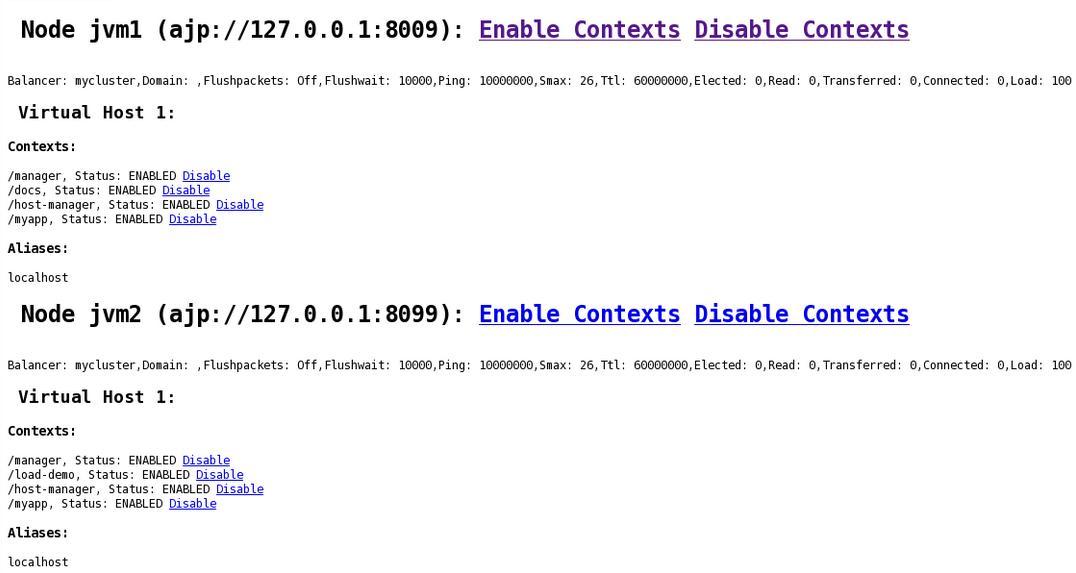 mod_cluster Status