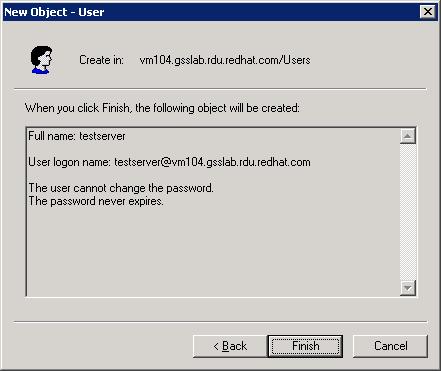 New User Finish