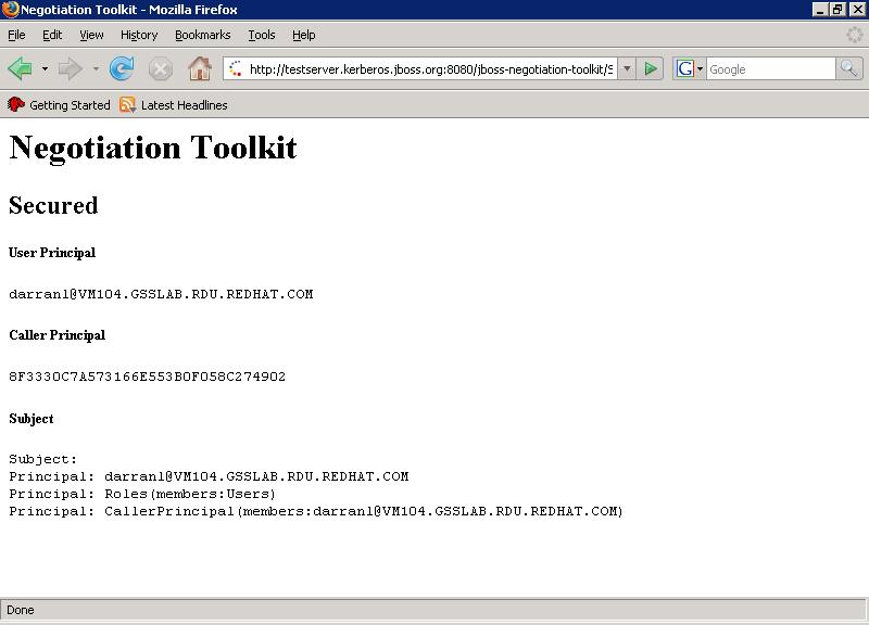 Firefox Negotiation Toolkit
