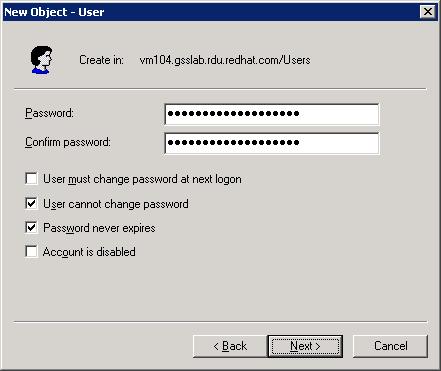 New User Password
