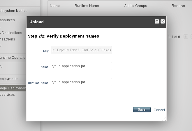 Verify deployment names