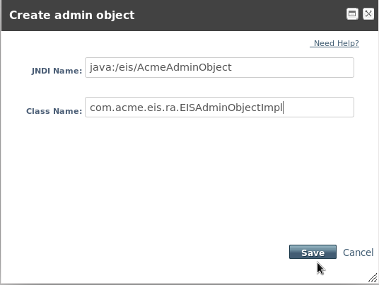 Create Admin Object