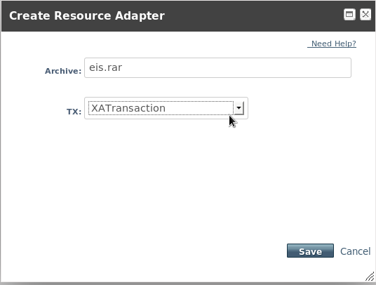 Create Resource Adapter