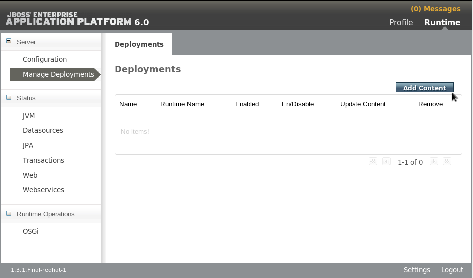 Manage Deployments - Add Content