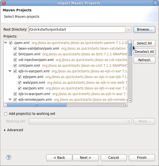 Select Maven Projects