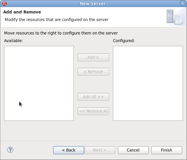 Modify resources for the new JBoss server