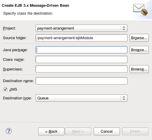 Create EJB 3.x Message-Driven Bean Wizard