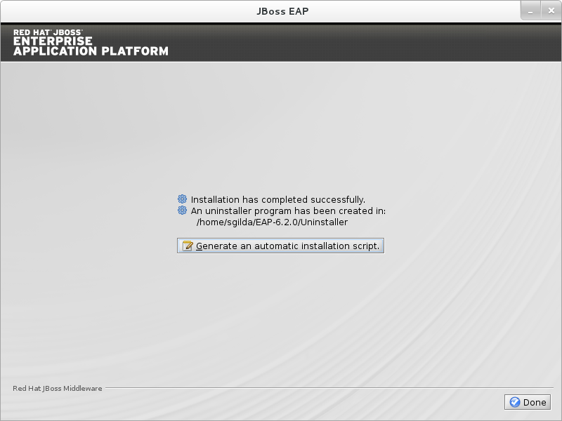 Choose whether to generate an installation script containing the selected install options. Then click Next.
