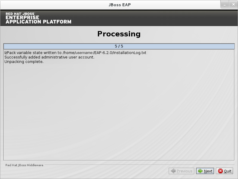 When processing completes, click Next.