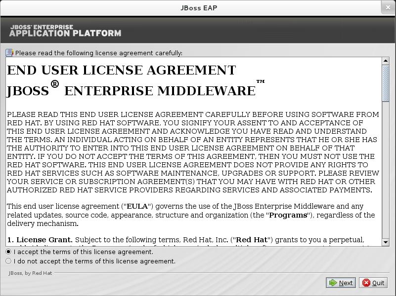 Jboss Enterprise Application Platform 62 B2 End User License