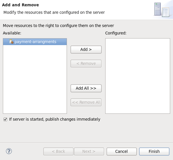 Add and Remove dialog